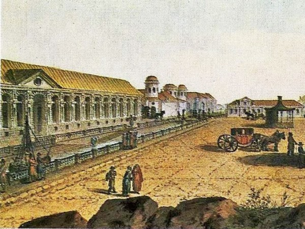 Жан Балтазар де ла Траверс Большой театр в Петербурге. 1790-е гг. (фрагмент)