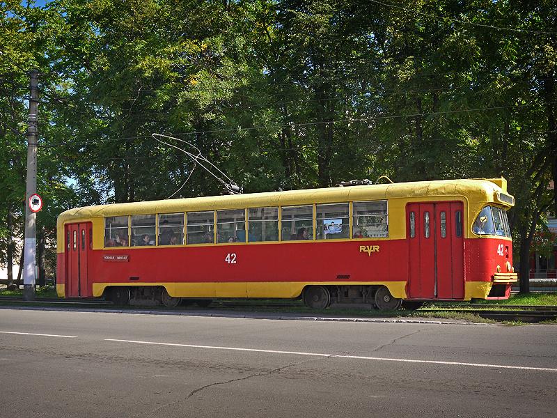 Трамвай РВЗ-6М2 в Осинниках