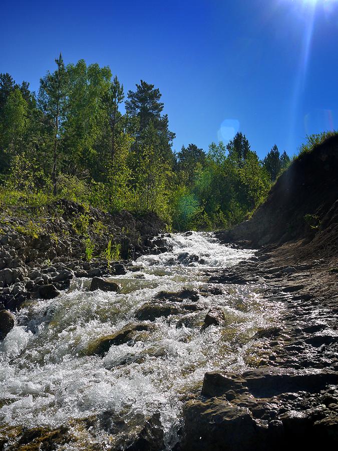 Водопад у села Глубокое