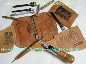 Инструмент для  работы по коже. Изготовление сувениров из кожи.
