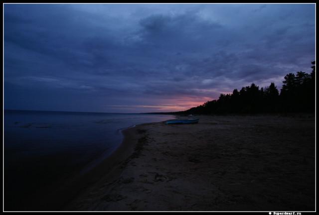 Ночь на Ладожском озере