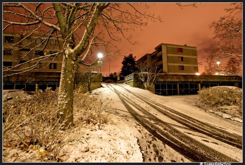 Ночью в финляндии припорошило снежком...
