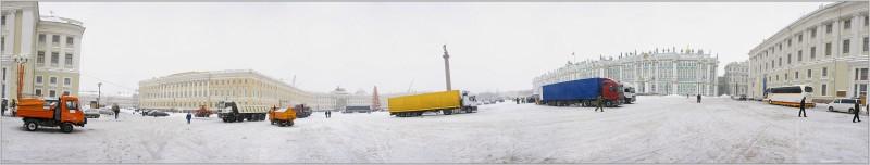 Панорама Дворцовой площади.