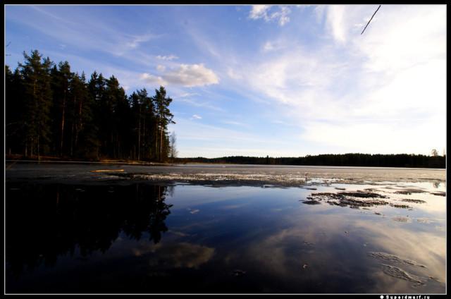 Ледяное озеро.