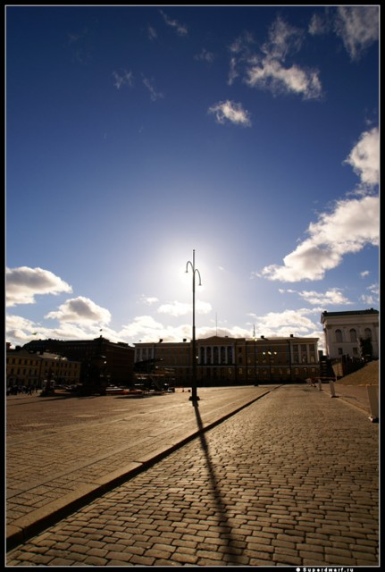 Финляндия . Солнечное освещение.