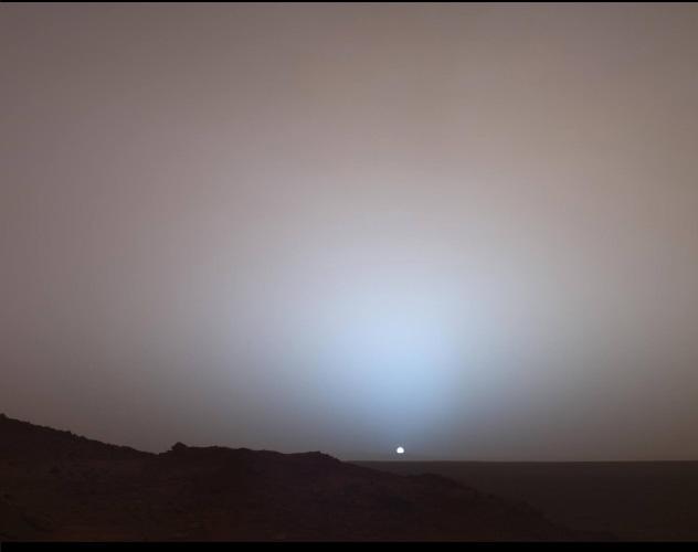 восход солнца кратер гусева 2006