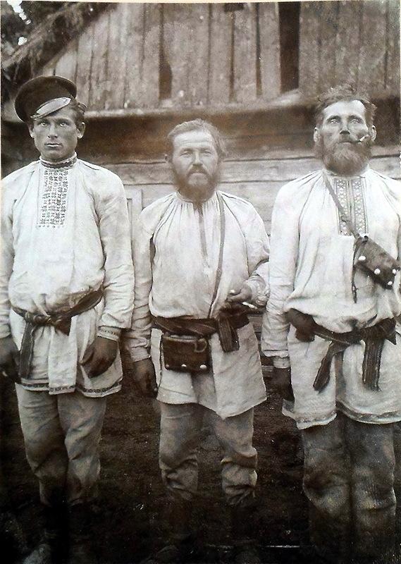Белорусские «казаки». Фото до 1917 г.