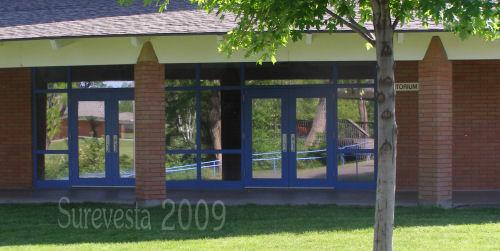 Auditorium front doors