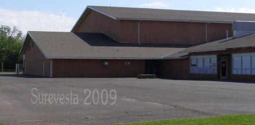 Big Gym side entrance and JROTC classes
