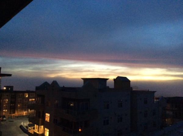 fog sunset