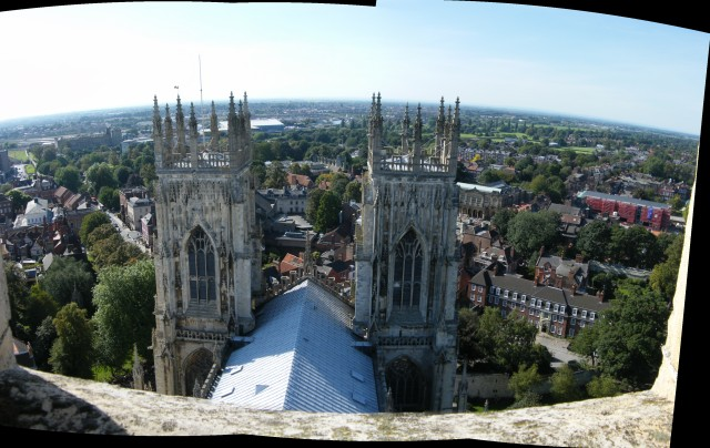 York Minster, From the top of the central tower