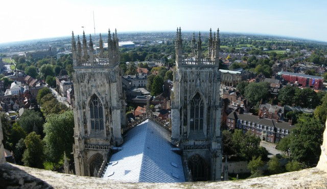 York , From York Minster on top a tower