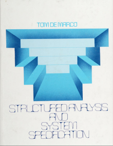 Structured analysis and system specification. Tom DeMarco