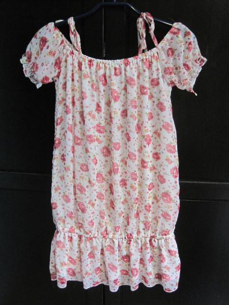 floral dress back
