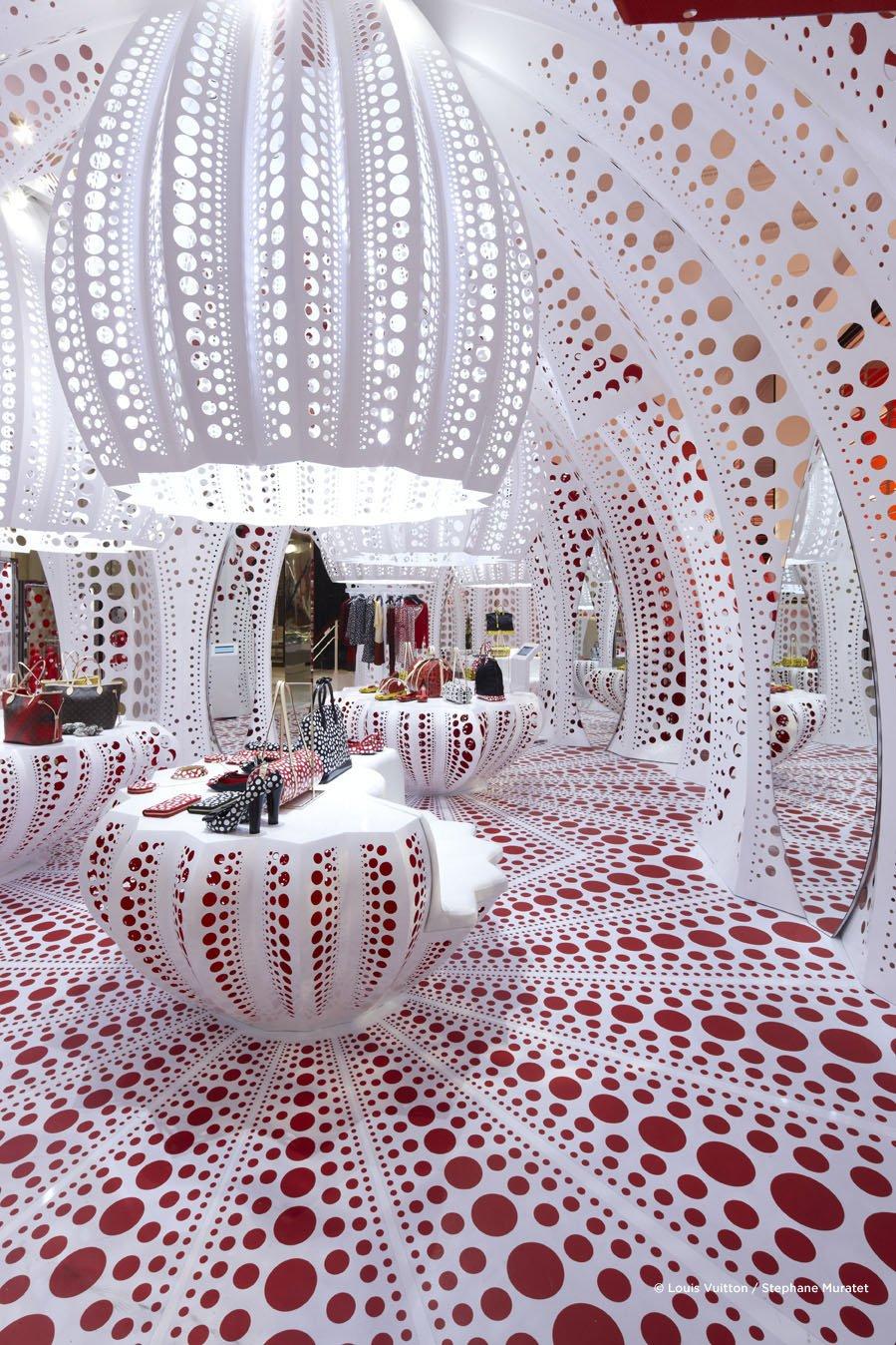 Дизайн магазина Louis Vuitton от Yayoi Kusama, Лондон