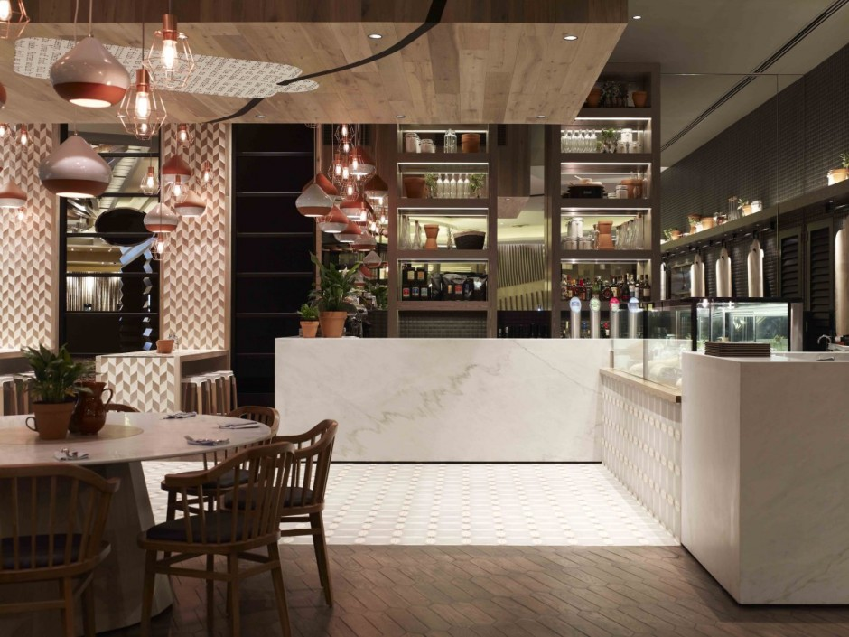 Mim Design have completed their design of the Cotta Cafe in Melbourne, Australia.