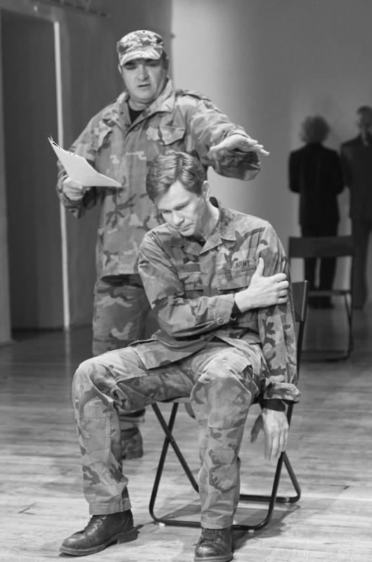 фото с прогона спектакля «Кориолан» (реж. - Анна Потапова), Театр на Таганке, автор фото: Сергей Трифонов