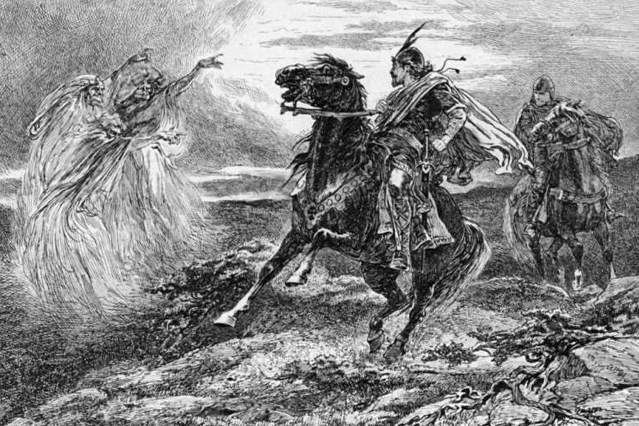 a literary analysis of the role of the witches in macbeth by william shakespeare Macbeth, written by playwright william shakespeare, is a tragedy that takes the audience into the realities of a weak human mind macbeth, thane of glamis, is prophesied to soon become to the thane of cawdor and eventually the king of scotland by the three ominous weird sisters.