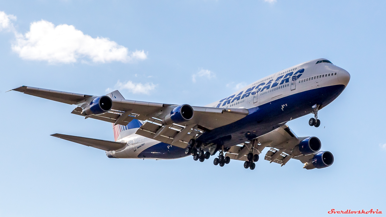 Boeing 747. Трансаэро.