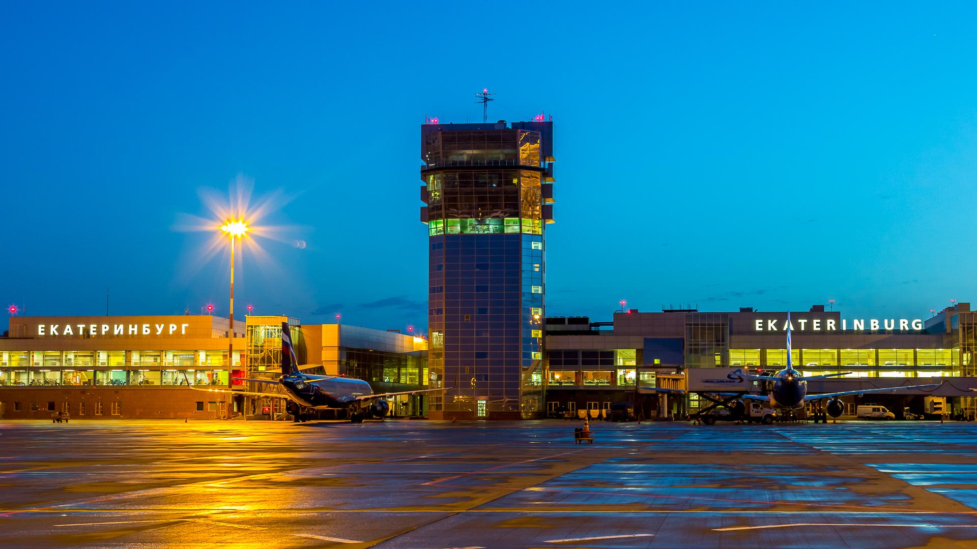 Ночной аэропорт. рейса, Небольшая, подборка, ночных, аэропорта, Кольцово, Прибытие, очередного, ожидании