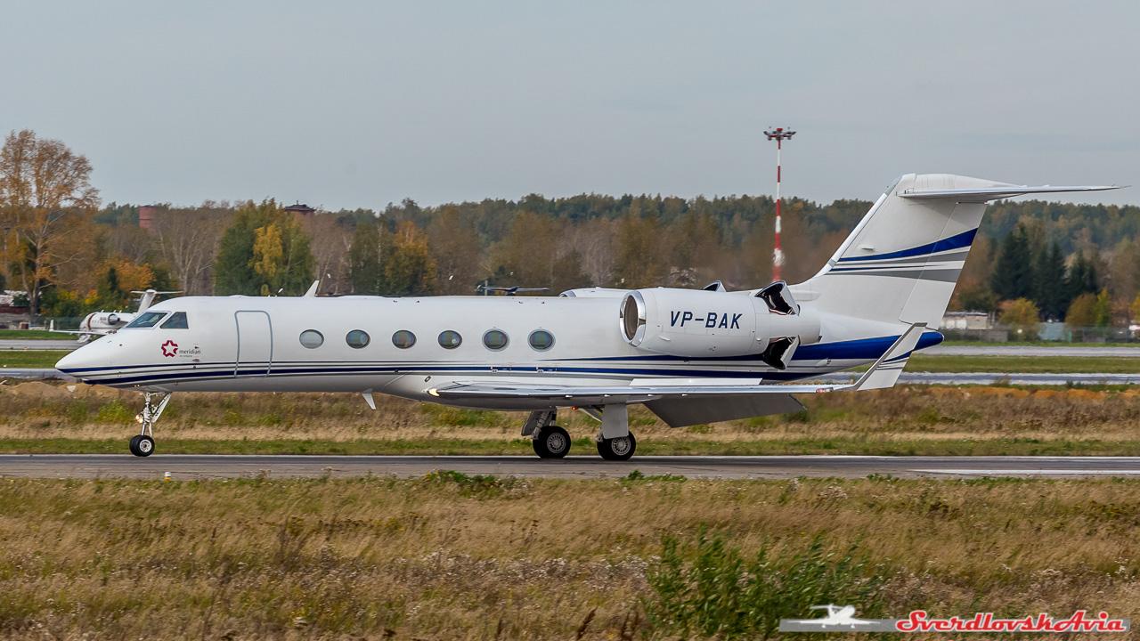 Gulfstream G450. VP-BAK.