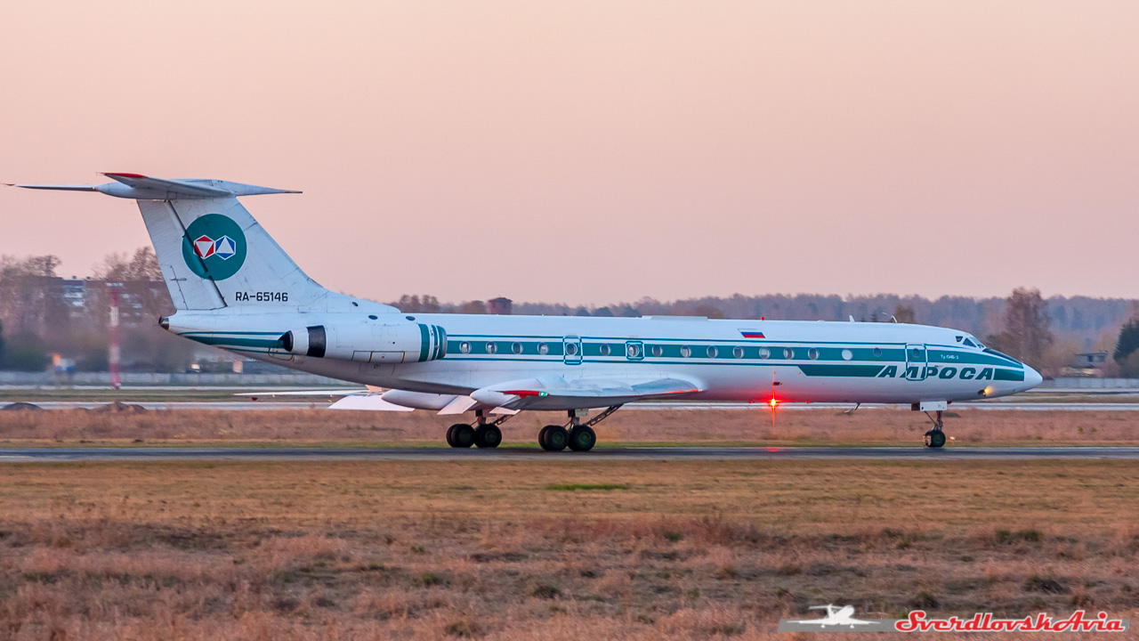 Ту-134 из архива.
