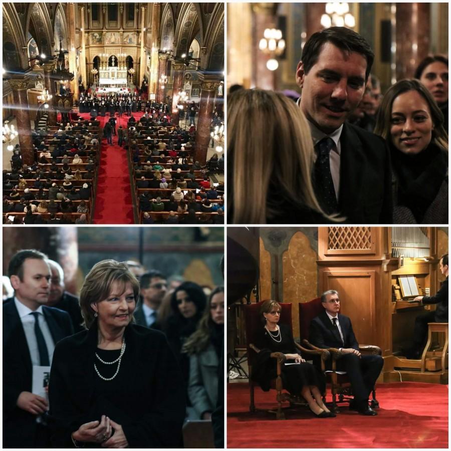 Королевская семья Румынии и бывший принц на концерте памяти короля Михая
