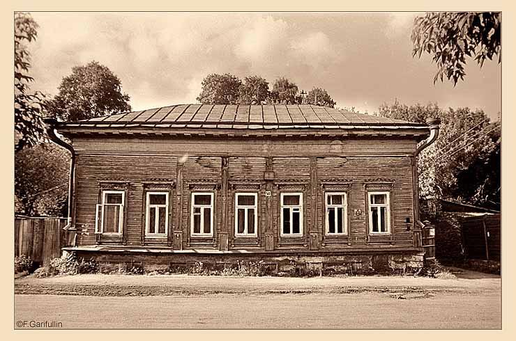 ул.Федосеевская, один из утраченных элементов деревянного зодчества