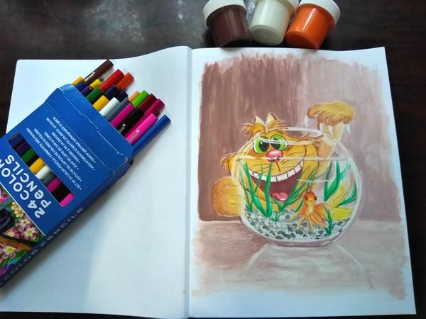 Блокнот «Дорисуй! Балерина», готовый рисунок 2