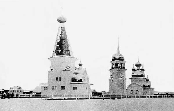 Храмовый комплекс с. Верховья Онежского уезда. Нач. ХХ в.