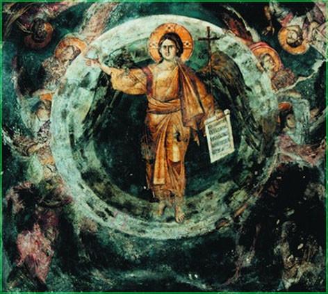 Ангел Великого Совета Иисус Христос. Фреска ц. Богородицы Перивлепты
