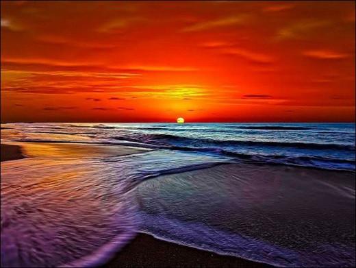 Закат морской