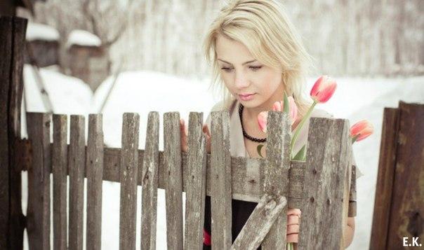 С тюльпанами