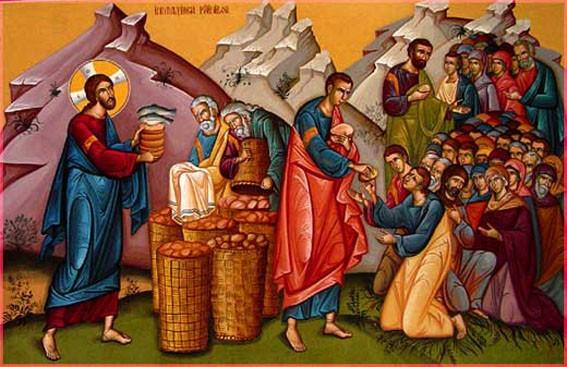 Иисус Христос накормил