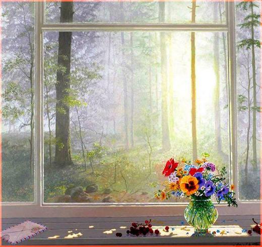 Букет на окне