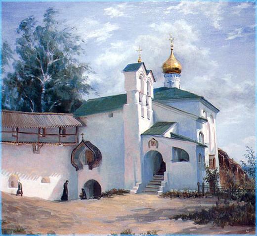 Храм на картине