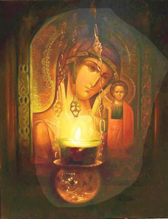 Лампада перед иконой