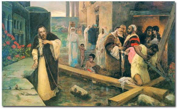 Сооружение креста В А Котарбинский