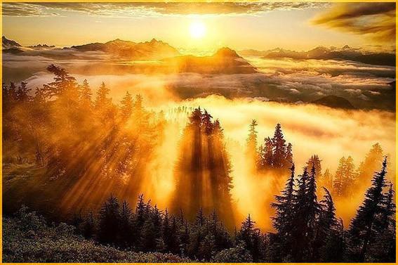 Осенннее солнце в горах