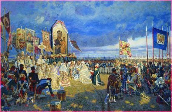 ПЕред Владимирской иконой Божией Матери