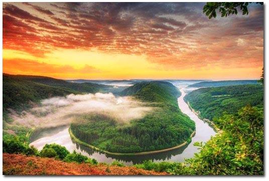 Излучина реки Саар Германия