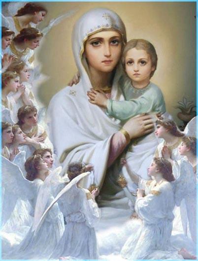 Царица Небесная и Ангелы