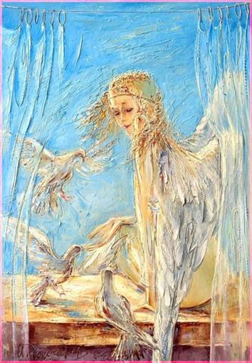 Ангел и голуби