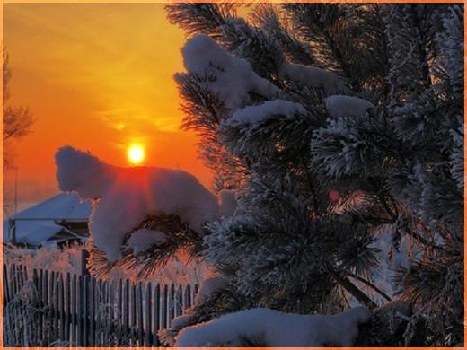 Зимний закат 3