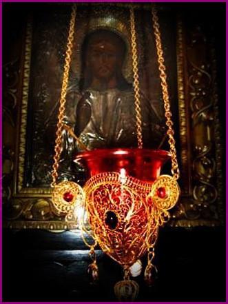 Лампада у иконы