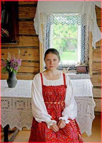 В русской избе
