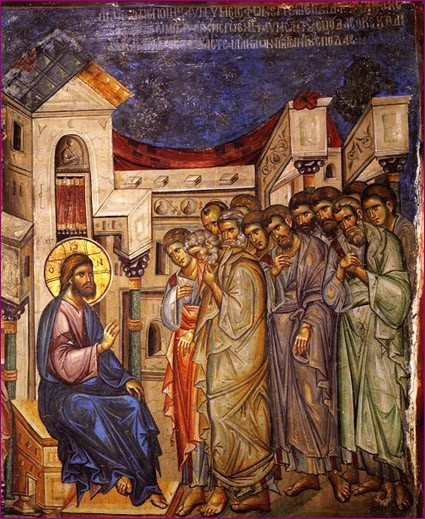 Нач  XIV в, фрески монастыря Ватопед, Афон 2-2