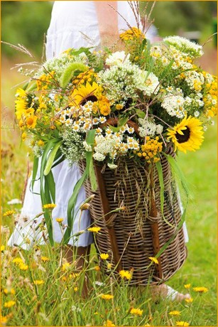 Корзинка цветов 1