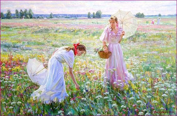 На цветочном лугу