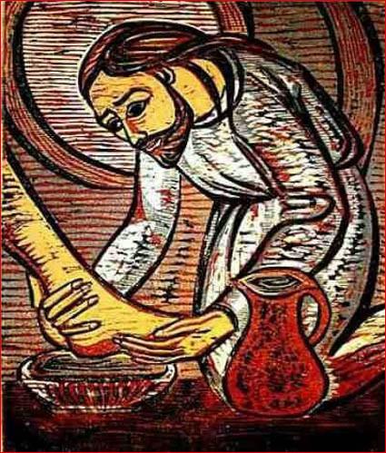 Господь омывающий ноги